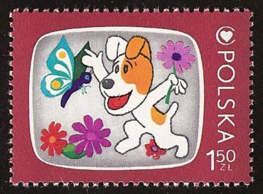 Znaczek pocztowy z Reksiem