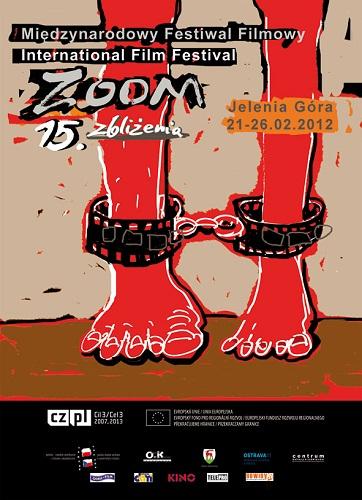 Plakat 15. Międzynarodowego Festiwalu Filmowego ZOOM - Zbliżenia