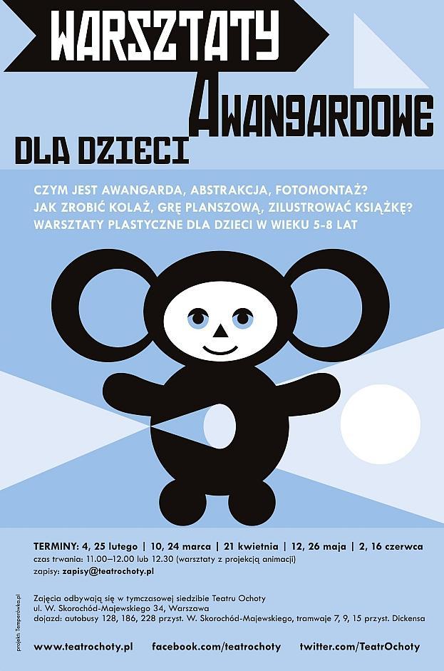 Plakat Warsztaty Awangardowe dla dzieci