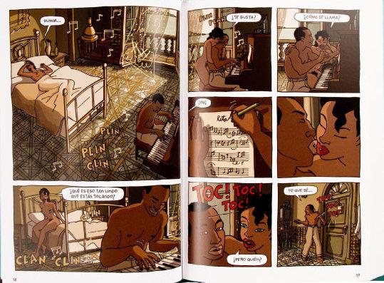 Chico i Rita strona komiksu