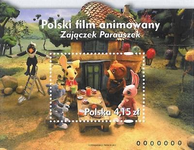 Zajączek Parauszek na znaczku pocztowym