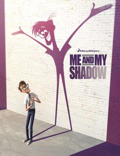 "plakat ""Me and my shadow"""
