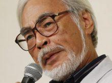 Miyazaki na konferencji prasowej