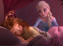 Elsa obswerująca śpiącą Anne - Gorączka lodu