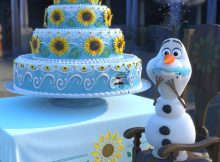 Olaf podkrada tort w Gorączce Lodu